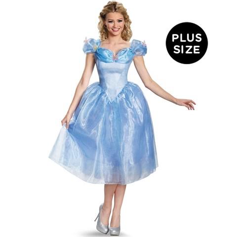 Disney Cinderella Movie Adult Deluxe Costume Plus Size