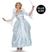 Disney Cinderella Movie: Prestige Plus Size Fairy Godmother Costume For Women