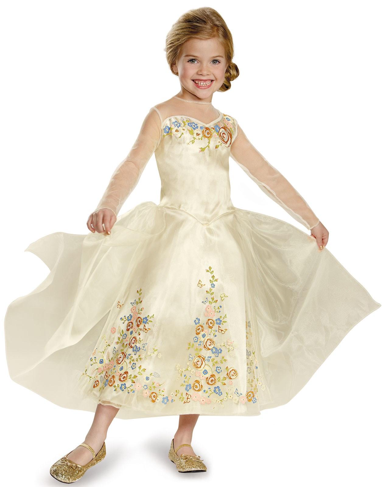 cinderella movie wedding dress deluxe kids costume