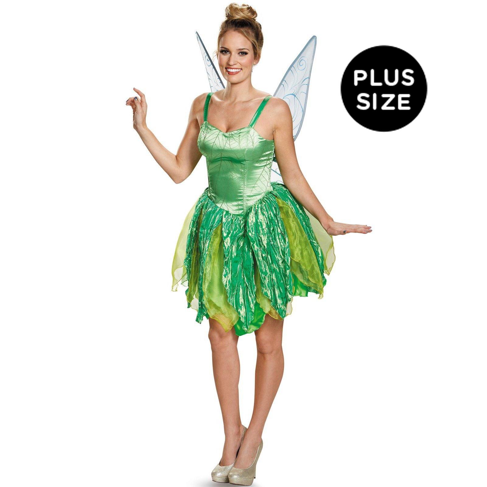 Disney Fairies Womens Plus Size Tinker Bell Prestige Costume
