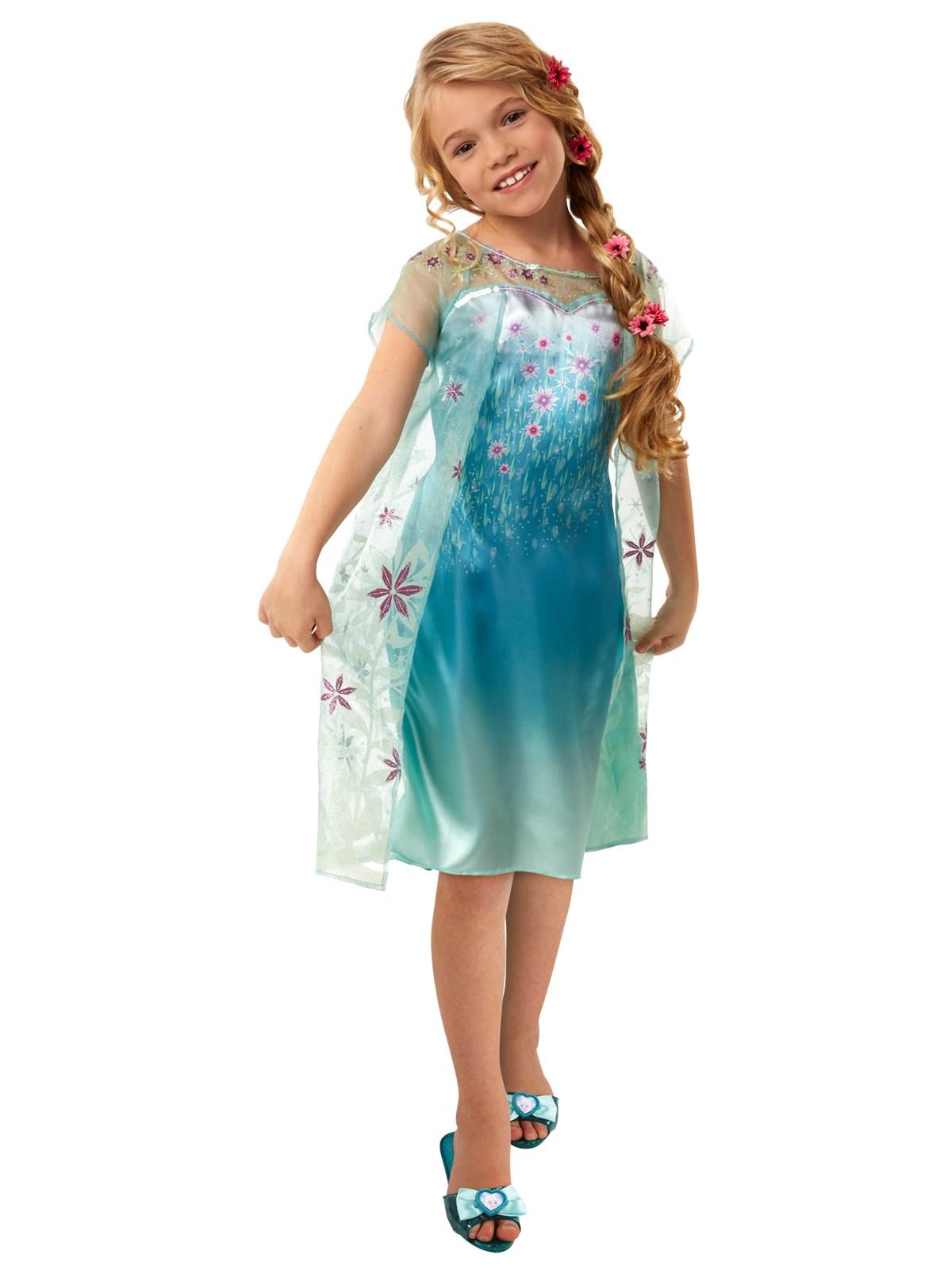 Disney Frozen Fever Girls Elsa Dress