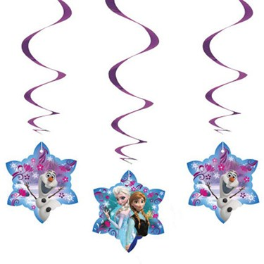 Disney Frozen Hanging Swirl Decorations (3)