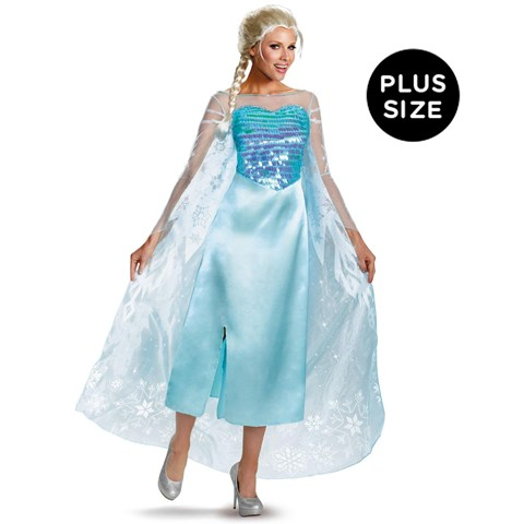 Disney Frozen - Plus Size Deluxe Elsa Dress