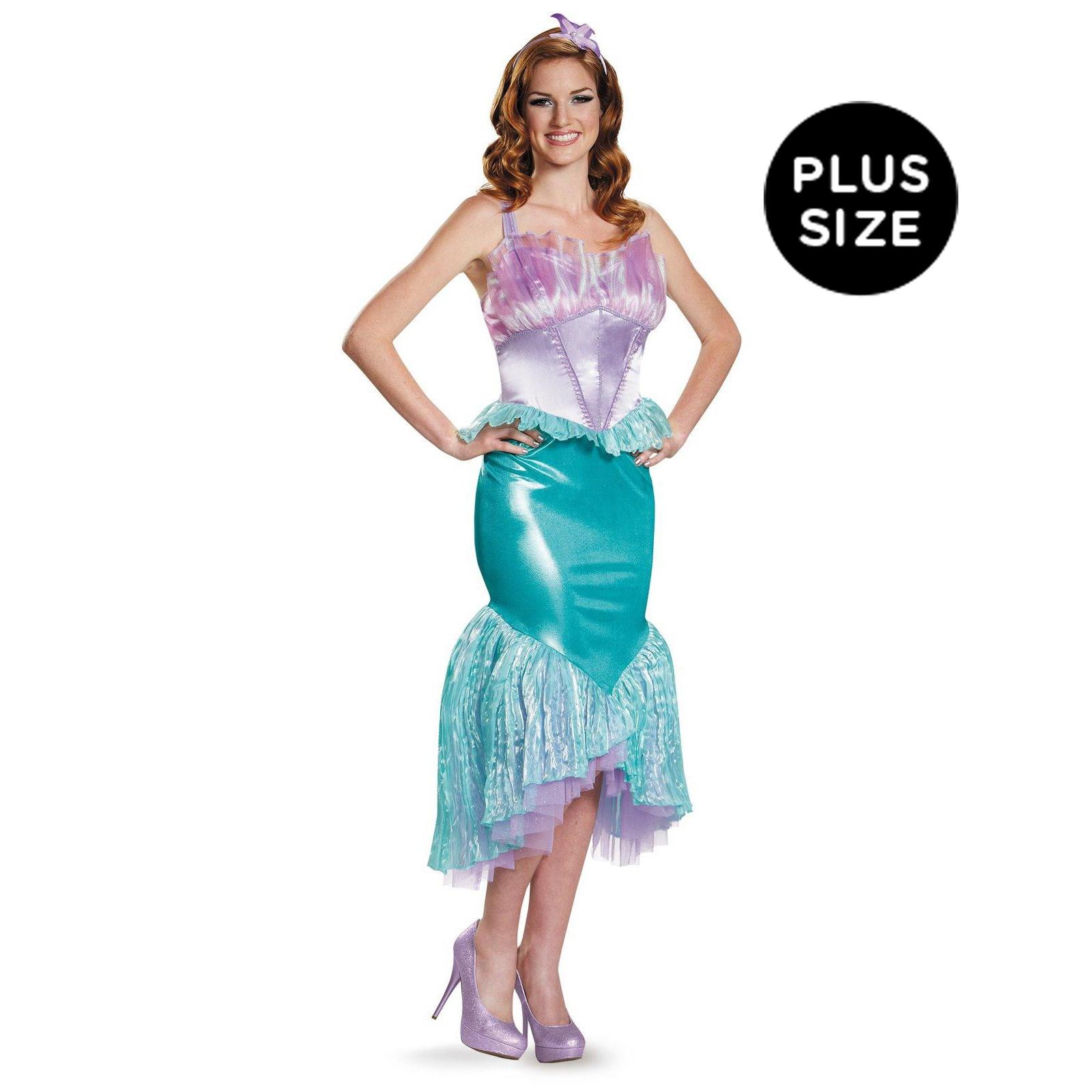 Disney Princess Deluxe Ariel Plus Size Costume For Women ...