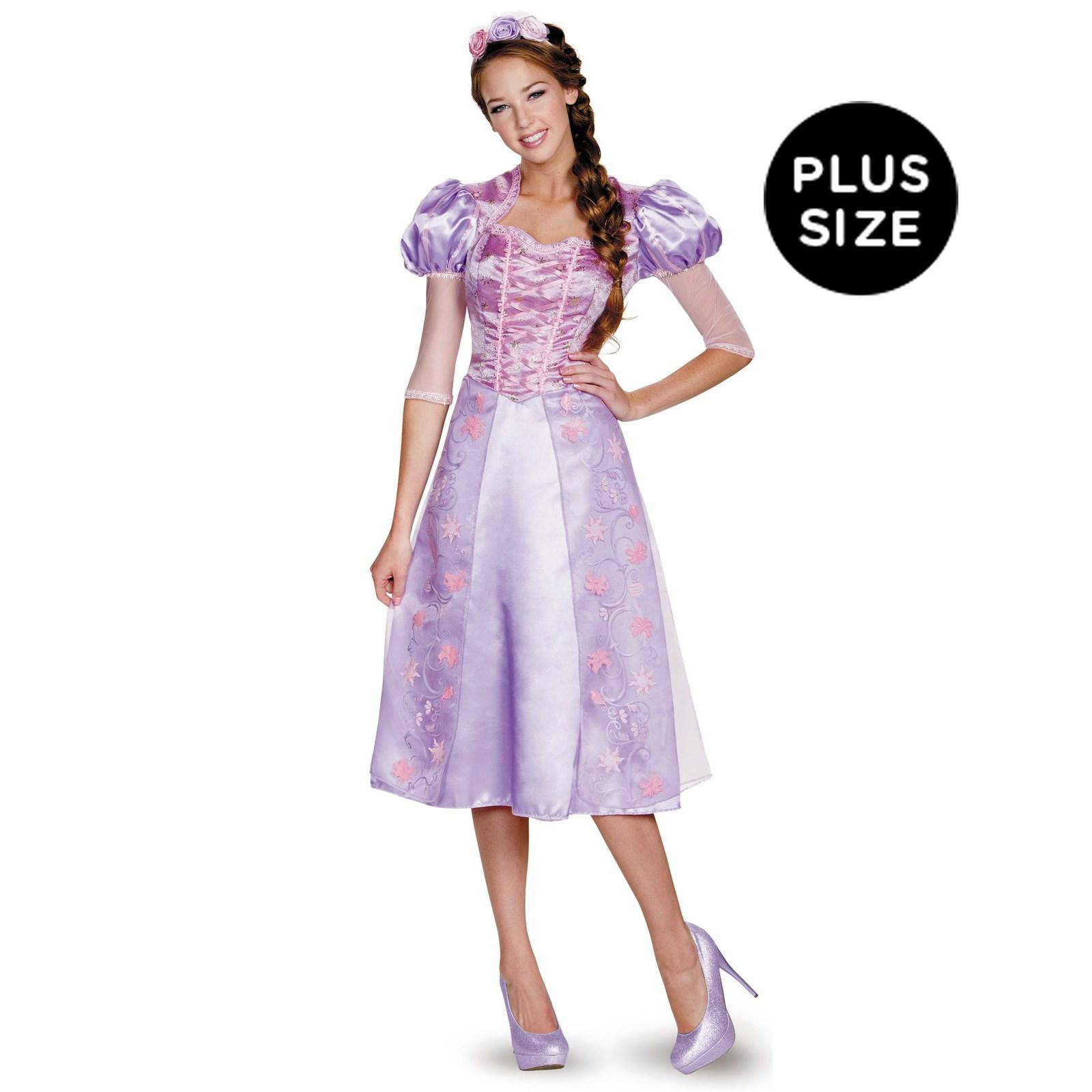 Disney Princess Deluxe Plus Size Rapunzel Costume For Women