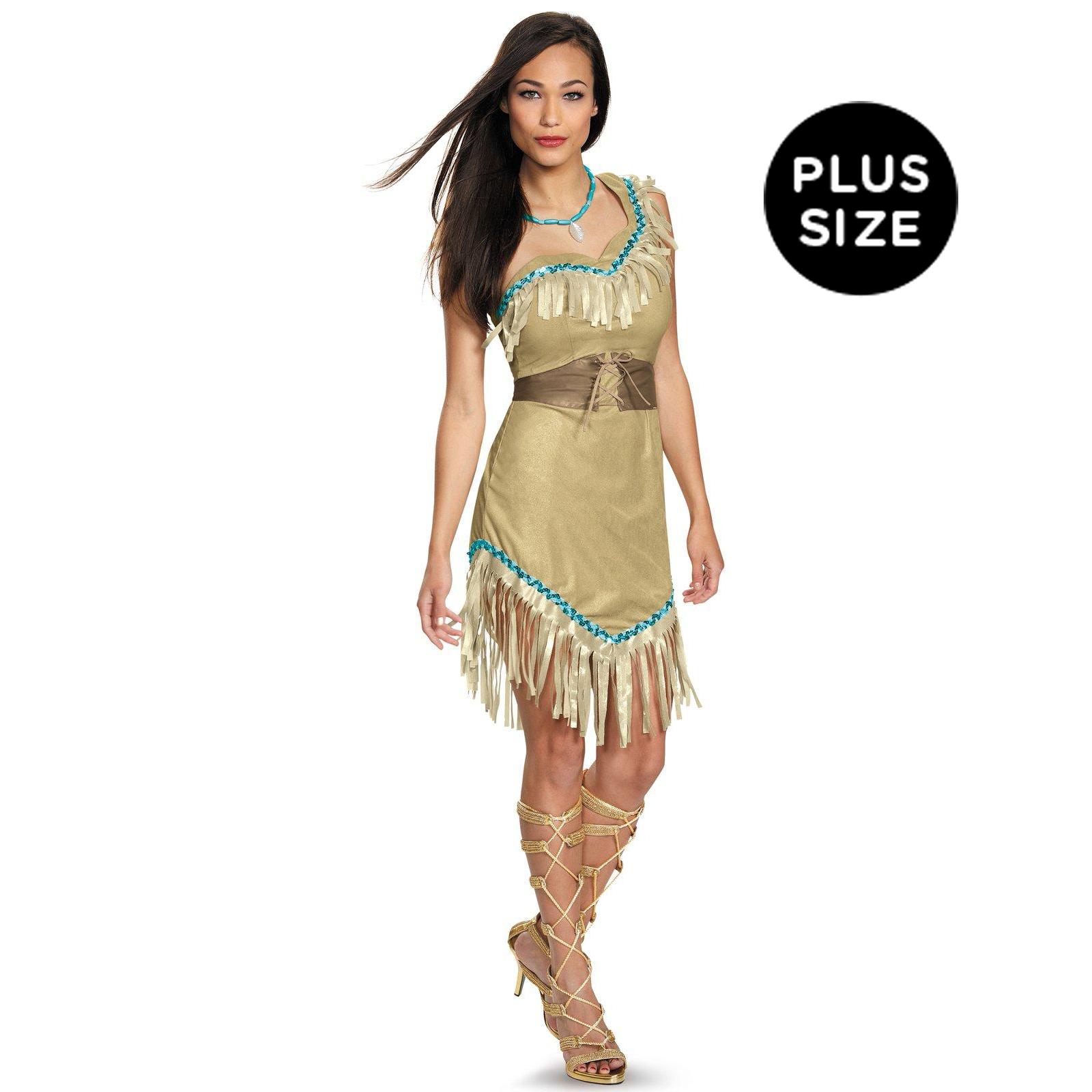 Disney Princess Deluxe Pocahontas Plus Size Costume For Women ...