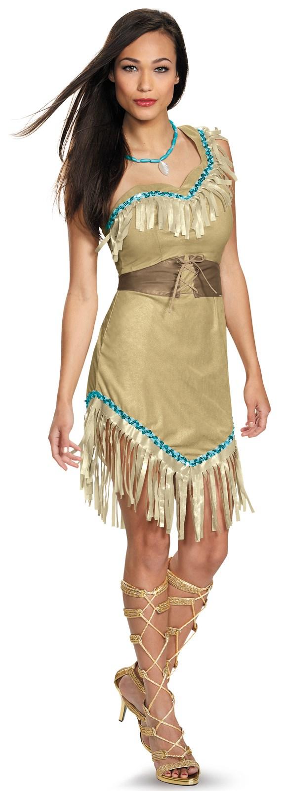 Disney Princess Deluxe Womens Pocahontas Costume | BuyCostumes.com