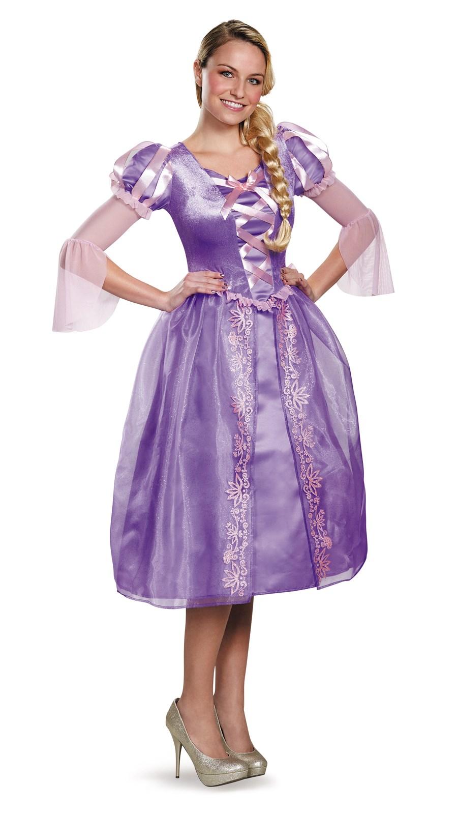 Disney Princess Deluxe Womens Rapunzel Costume