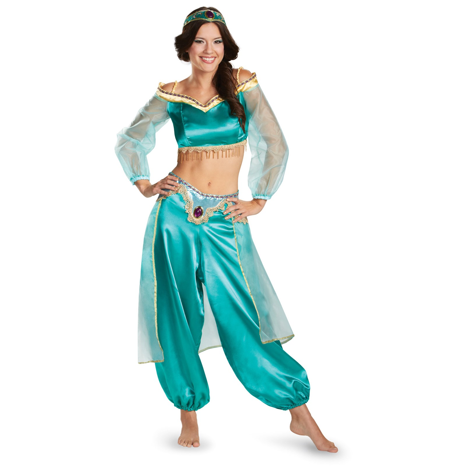 disney princess jasmine prestige fab costume for women. Black Bedroom Furniture Sets. Home Design Ideas
