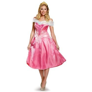 Disney Princess Womens Deluxe Aurora Costume