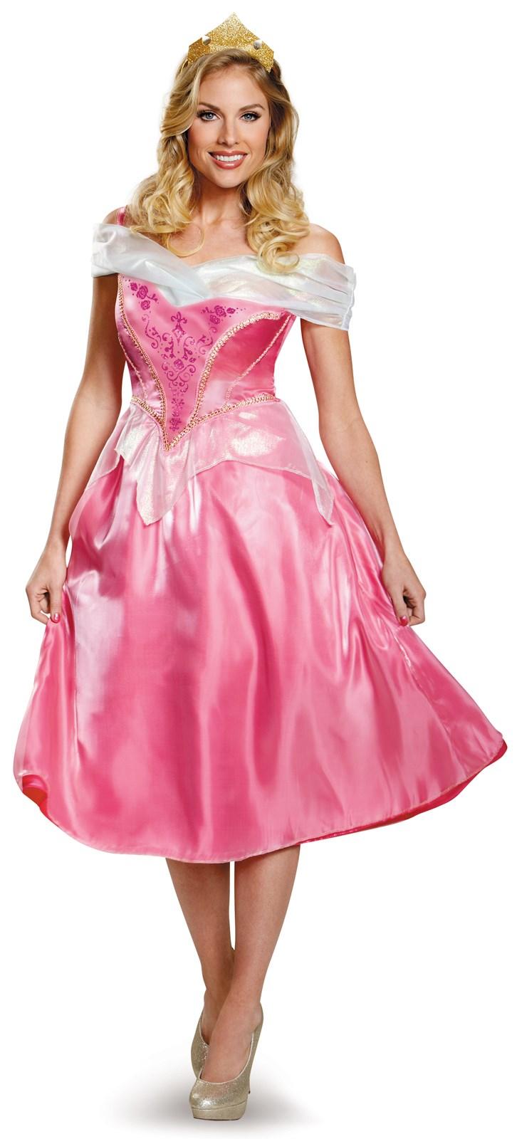 disney princess womens deluxe aurora costume. Black Bedroom Furniture Sets. Home Design Ideas
