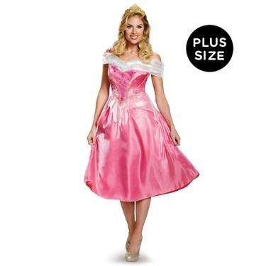 Disney Princess Womens Deluxe Plus Size Aurora Costume