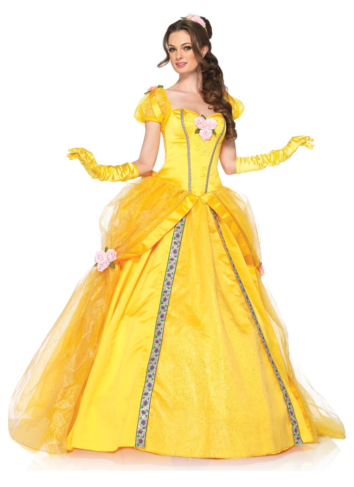 Disney princess gowns for adults - Default Image Disney Princesses Enchanting Belle Deluxe Adult Costume