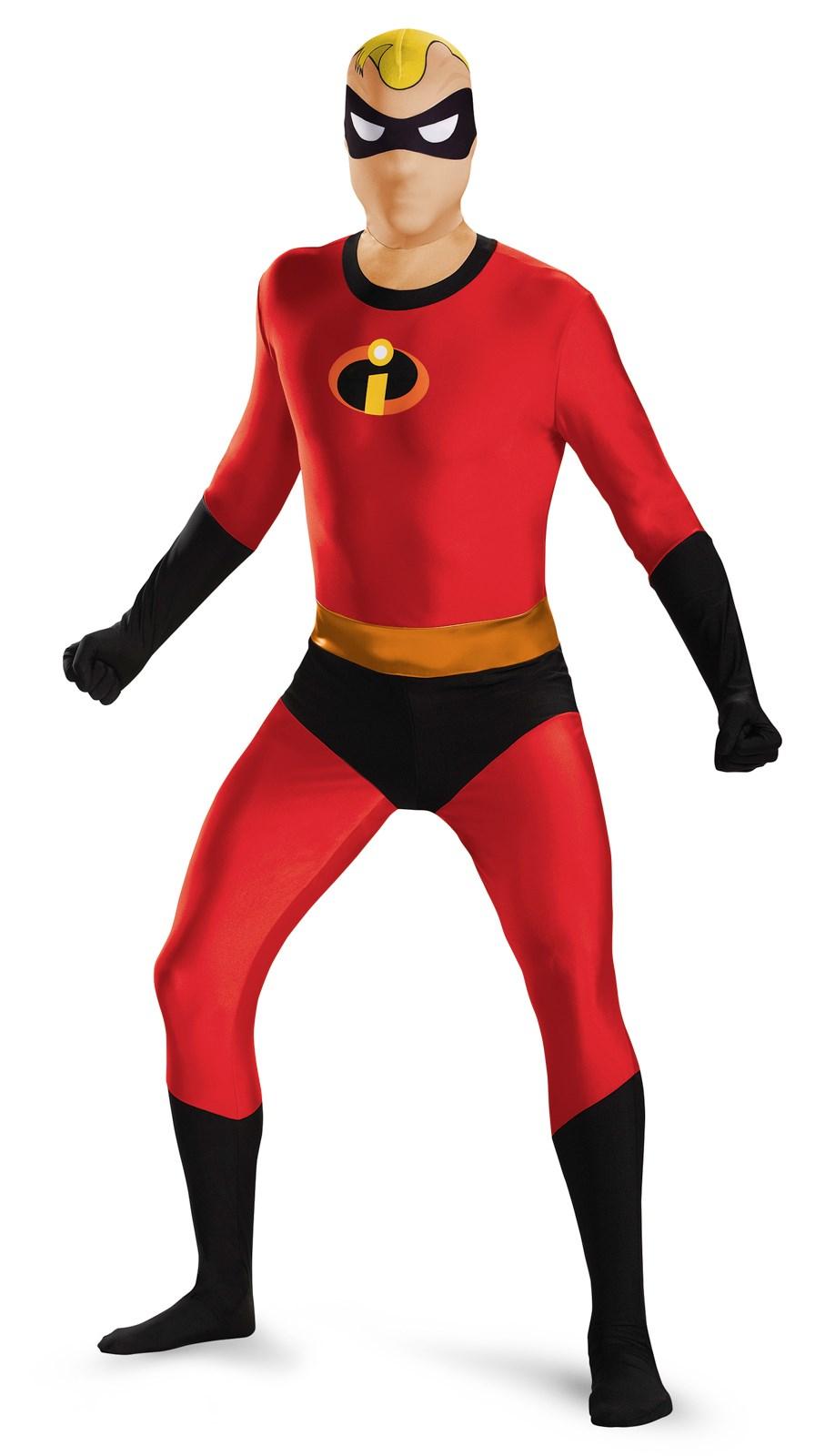 Disneys the Incredibles: Mens Mr. Incredible Bodysuit Costume