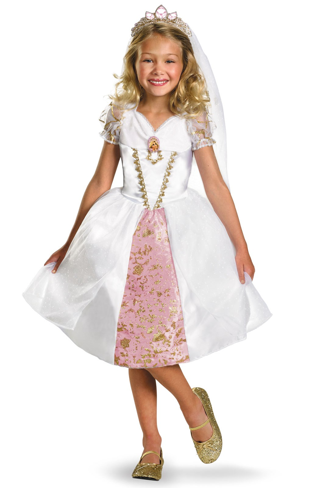 Disney Tangled Rapunzel Wedding Gown Toddler Costume | BuyCostumes.com