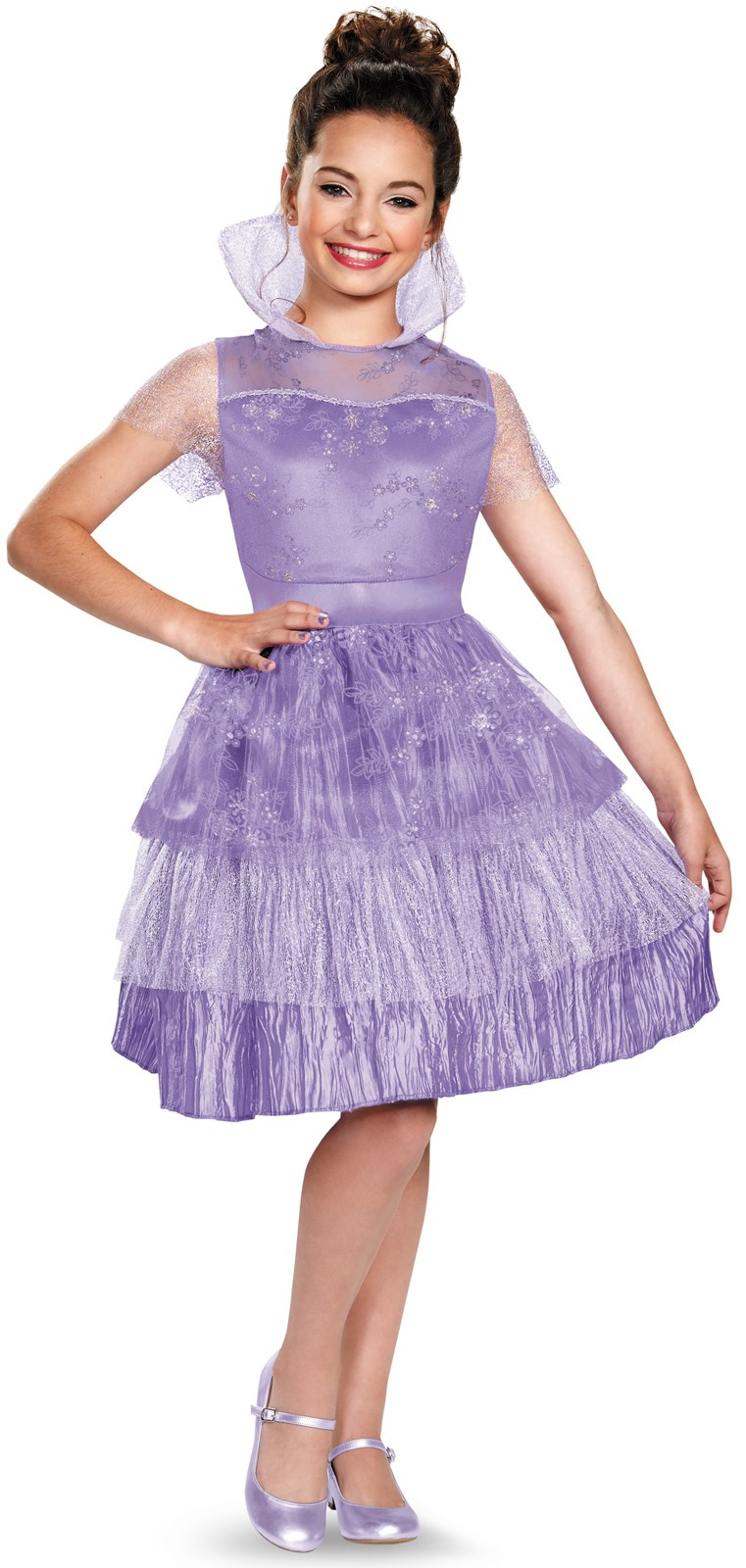 Disneys Descendants: Girls Deluxe Mal Coronation Costume