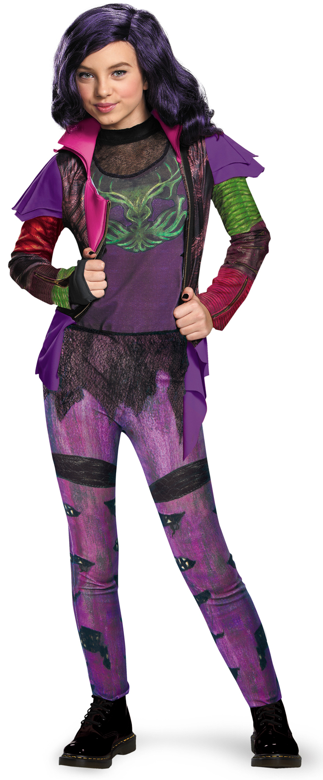 Disney's Descendants: Mal Isle of the Lost Deluxe Costume For Kids ...