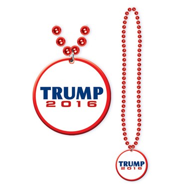 Donald Trump Beads with Medallion