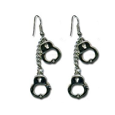 Double Handcuff Dangle Earrings