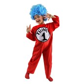Dr. Seuss Cat in the Hat Thing 1 or Thing 2 Child Costume Sale Size Medium