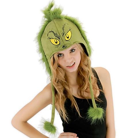 Dr. Seuss Grinch Hoodie Adult Hat