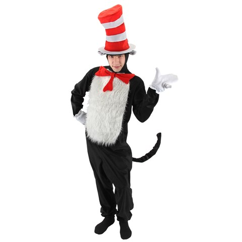 Dr. Seuss The Cat in the Hat - The Cat in the Hat Deluxe Adult Costume