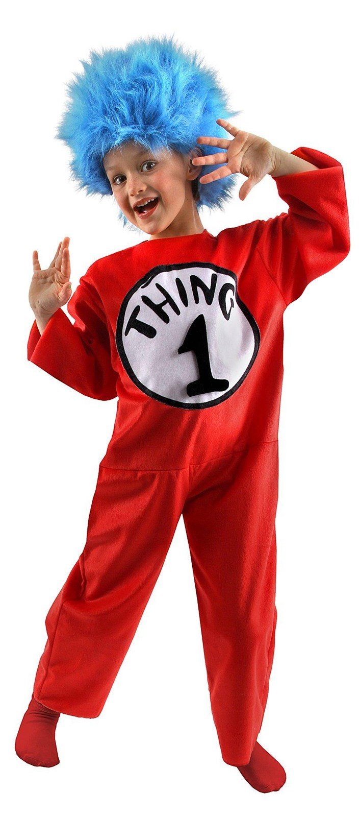 dr seuss the cat in the hat thing 1 or thing 2 child costume