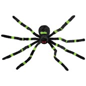 Dropping Green Furry Spider Animated Prop