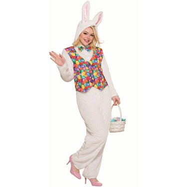 Easter Bunny Costume Jumpsuit with Vest Adult STD