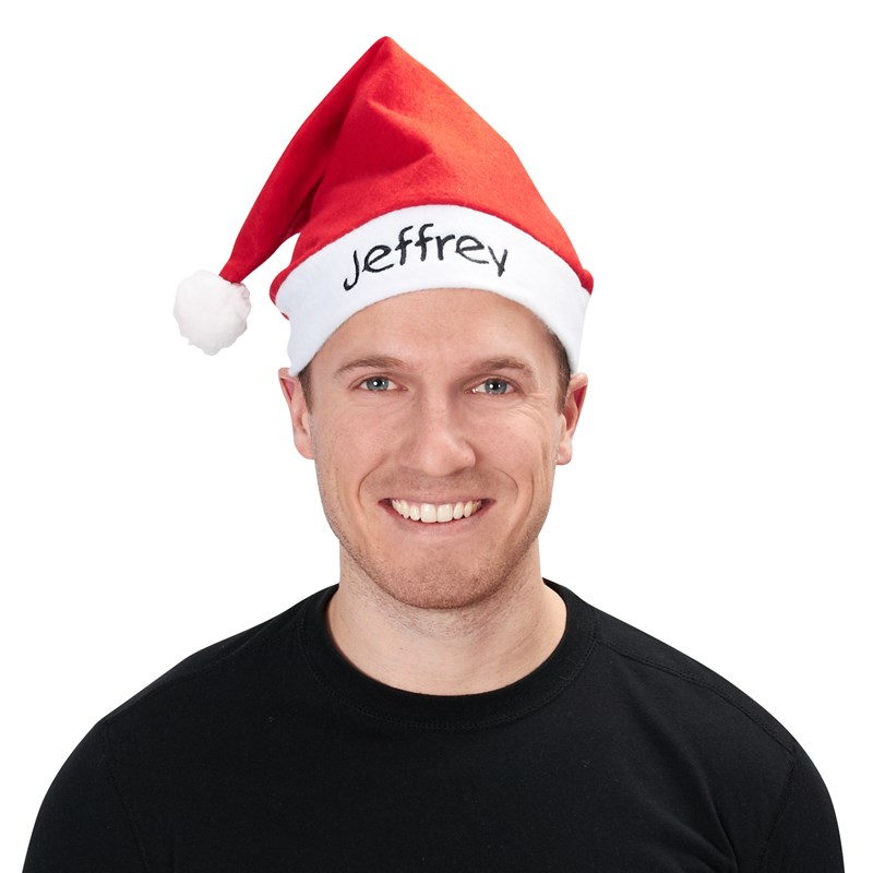 Economy Embroidered Red Santa Hat Adult