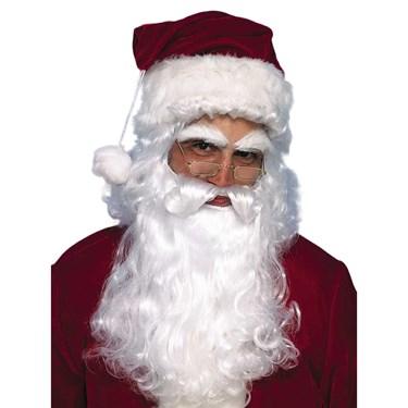 Economy Santa Wig And Beard Set