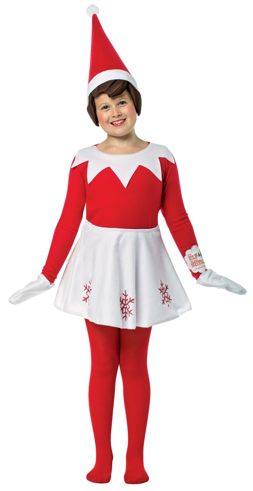 Elf on the Shelf Dress Costume For Girls | BuyCostumes.com