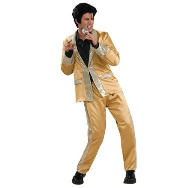 Elvis Presley Gold Satin Deluxe Adult Costume