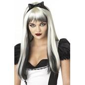 Enchanted Tresses (Black / White) Adult Wig