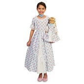 Fancy Early American Child Dress M (8-10) with Matching 18 Doll Costume