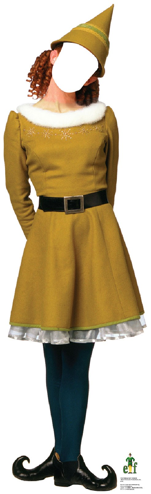 Female Elf Cardboard Stand Up 5.6