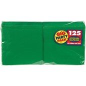 Festive Green Big Party Pack - Beverage Napkins (125 count)