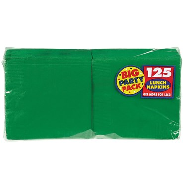 Festive Green Big Party Pack - Lunch Napkins (125 count)