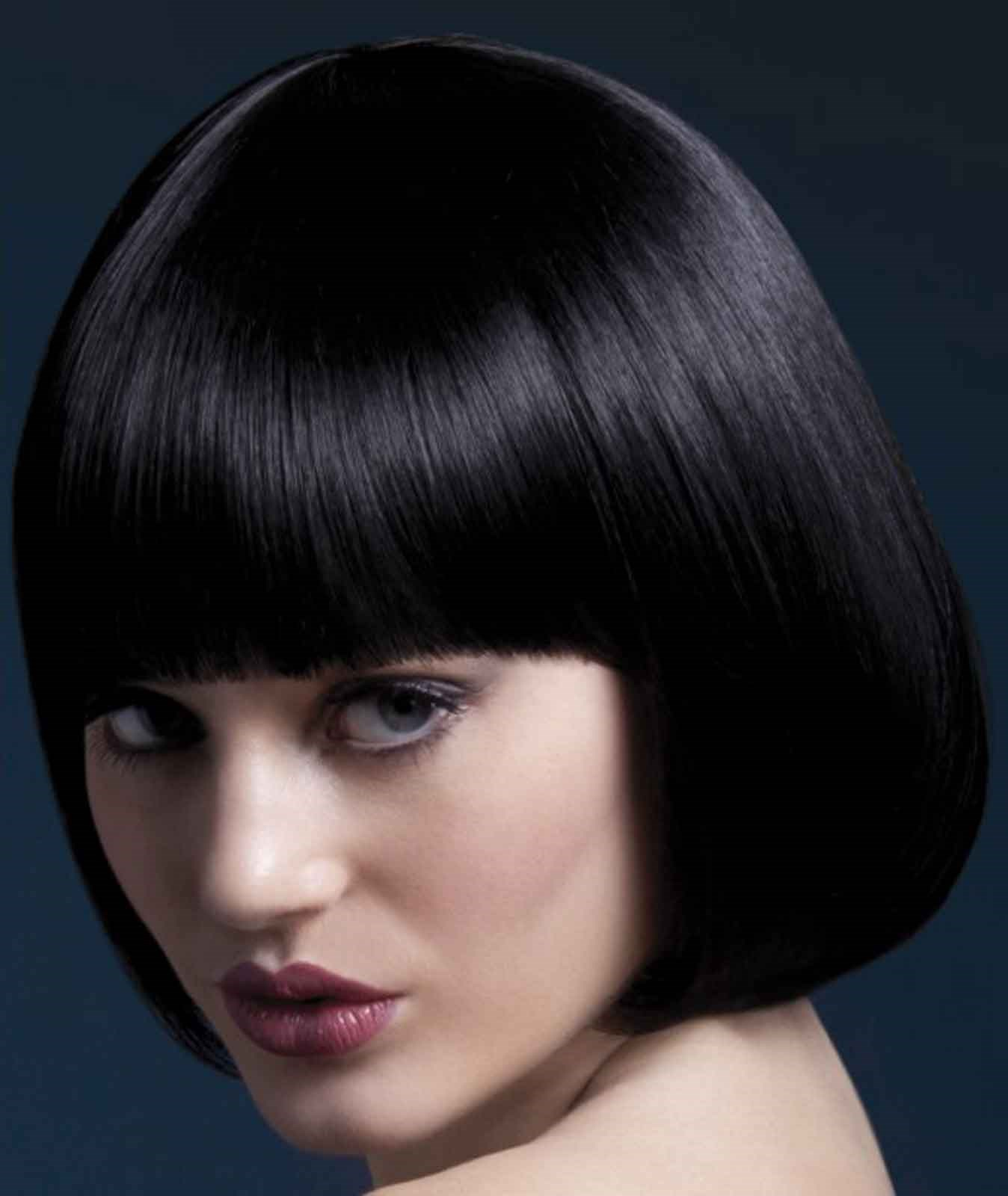 Fever Mia Short Black Wig With Bangs Buycostumes Com