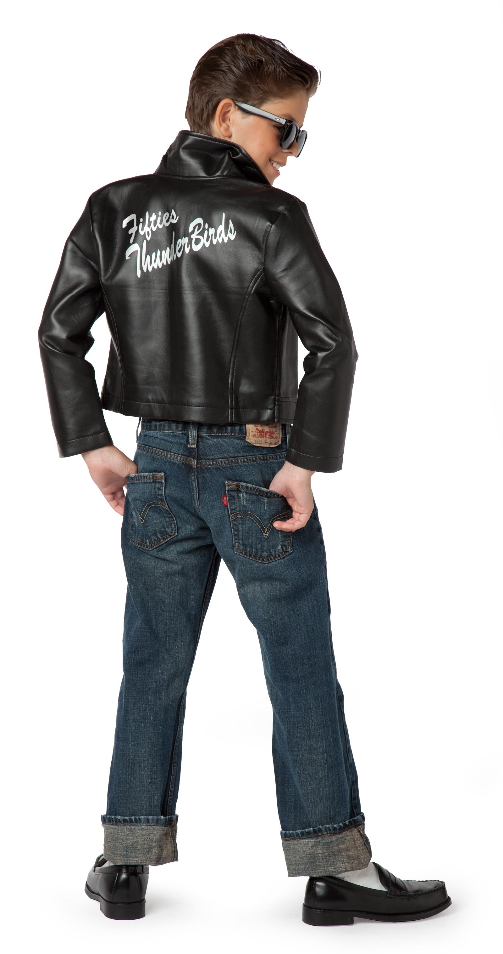 fifties thunderbird jacket child costume buycostumescom - Halloween Scary Costumes For Boys