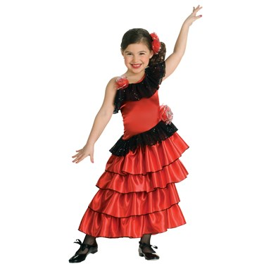 Flamenco Princess Girls Costume
