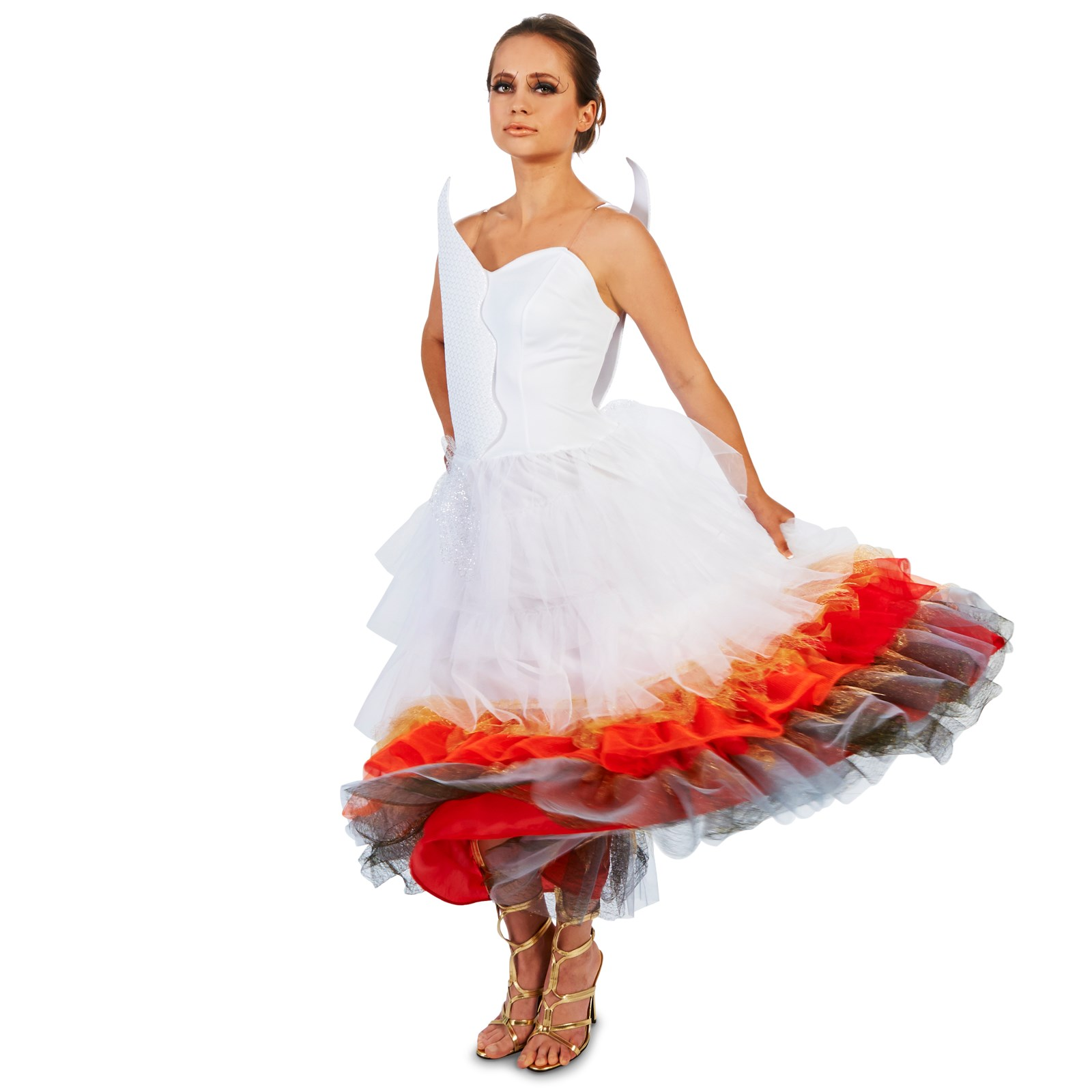 Flaming winged wedding dress adult costume buycostumescom for Wedding dress costume for adults