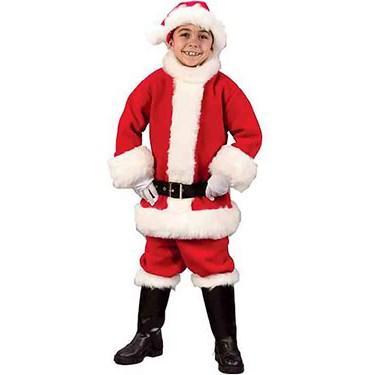 Flannel Santa Suit Child Costume