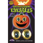 Flashing Scary Green Eyeballs