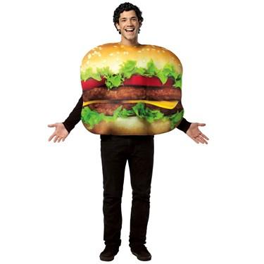 Flat Cheeseburger Unisex Adult Costume