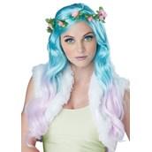 Floral Fantasy Blue/Lavender Adult Wig