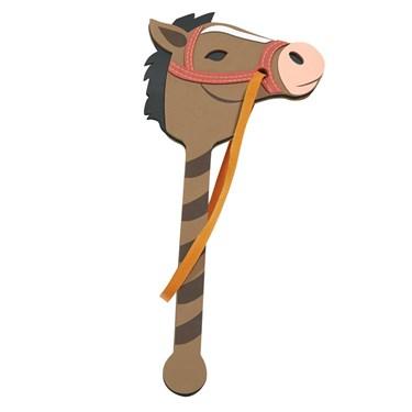 Foam Brown Pony on a Stick