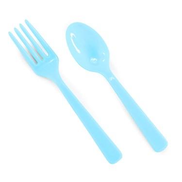 Forks & Spoons - Aqua Blue (8 each)