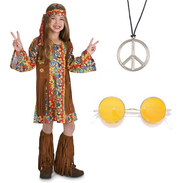 Fringe 60's Hippie Child Costume Kit