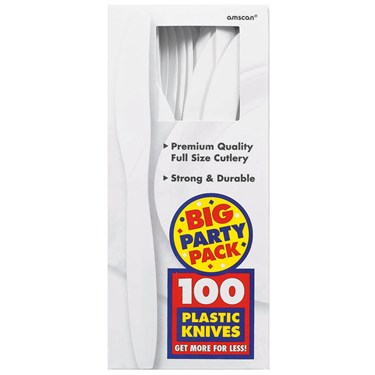 Frosty White Big Party Pack - Knives (100 count)